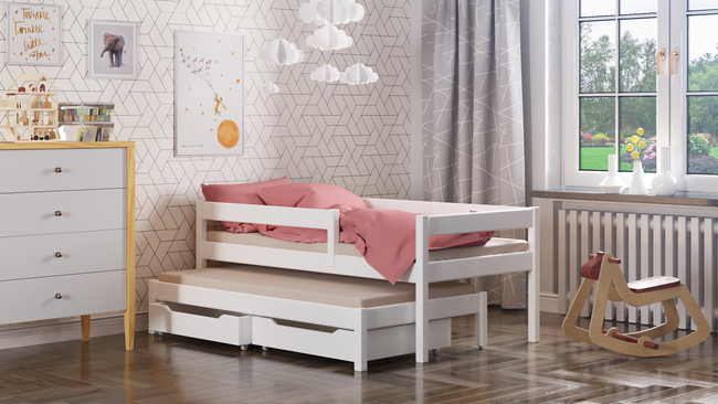 Maria single bed for kids with trundle 2