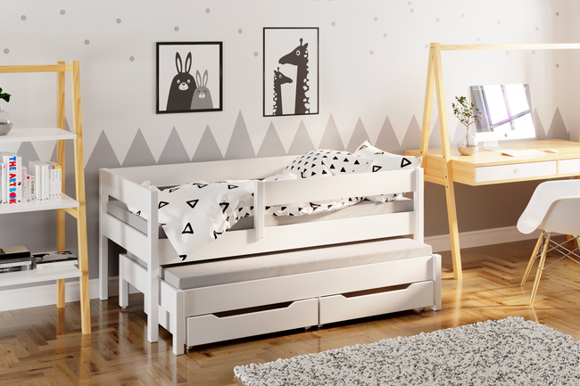 Jula single bed for kids with trundle 2
