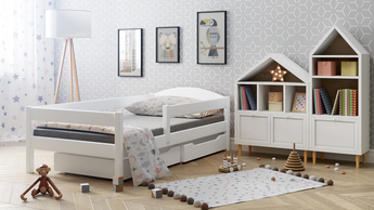 Bed for children in white colour