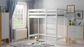 WNM Group Bunk Bed Sophie pine wood bed frame 180x80 White two sleeper