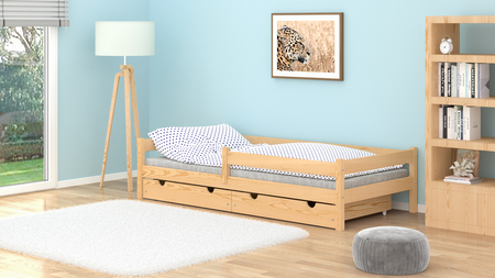 solid wood bed for children