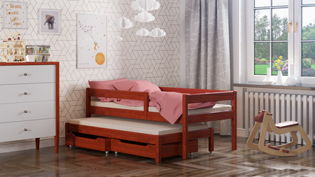 Maria single bed for kids with trundle 5