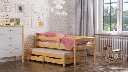 Maria single bed for kids with trundle 3