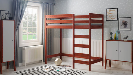 wooden loft bed