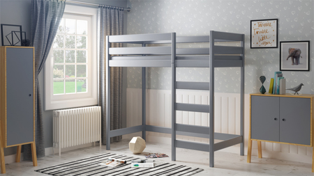 solid wood loft bed