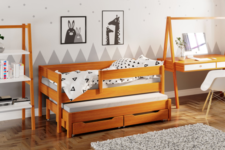 Jula single bed for kids with trundle 4