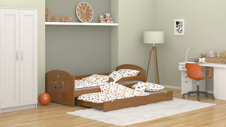 single bed with underbed, single bed with trundle
