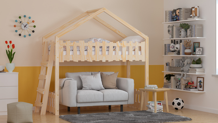 house-shaped bed