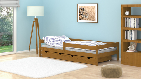 solid wood bed for kids