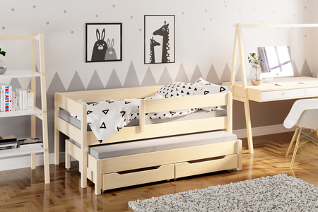 Jula single bed for kids with trundle 5
