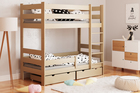 solid wood bunk bed for kids