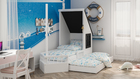 double bed, childrens bed, childrens room, bed, kids bed, boad shaped bed, sailor